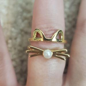 Kate spade Gold Cat ring